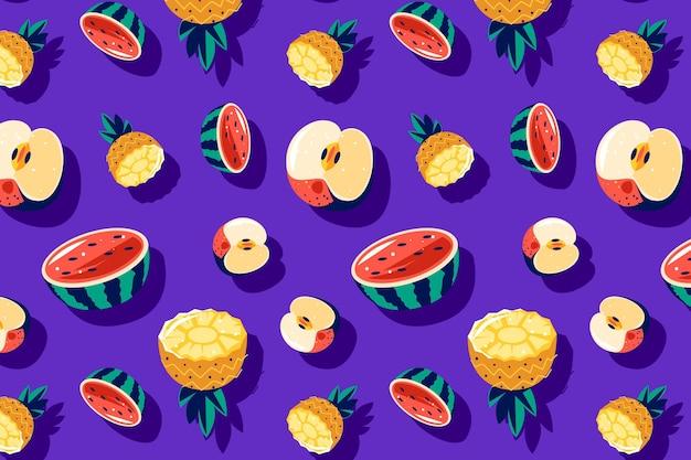 フルーツ柄パックテーマ
