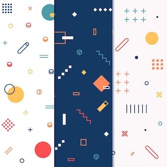Концепция коллекции мемфис шаблон