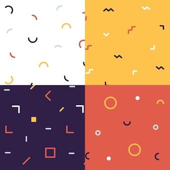 最小限の幾何学模様コレクションのコンセプト