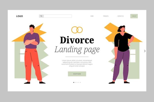 離婚コンセプトランディングページ