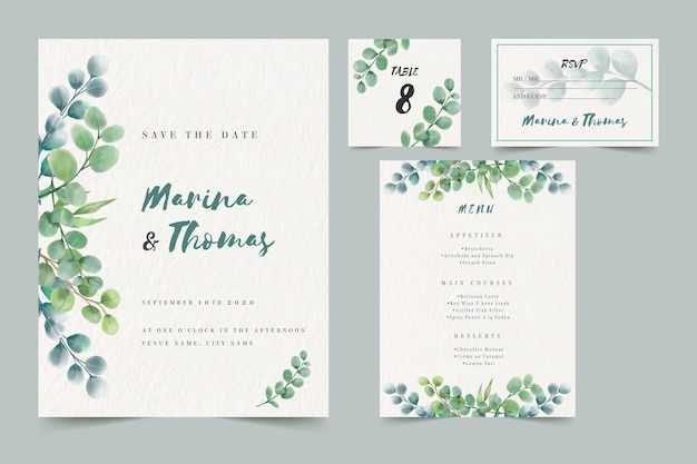 結婚式招待状テンプレート