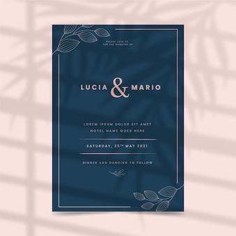 結婚式の招待状のテンプレートスタイル