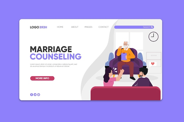 Шаблон целевой страницы консультации по браку
