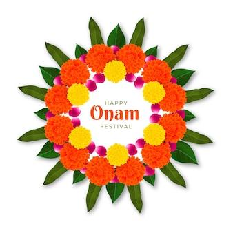 現実的なオナムの花飾り