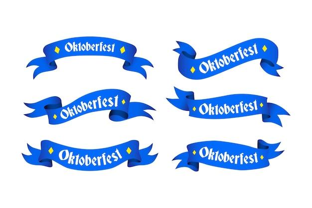 Коллекция рисованной ленты октоберфест