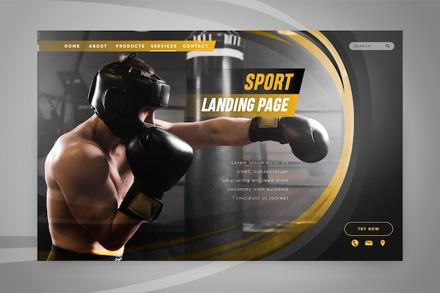 Веб-шаблон спортивной целевой страницы