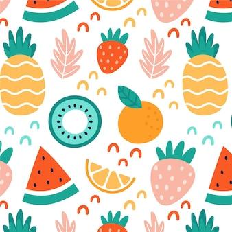 キウイとフルーツのパターン
