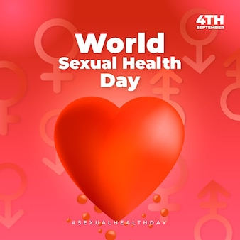 世界の性の健康の日のイベントのリアルなイラスト