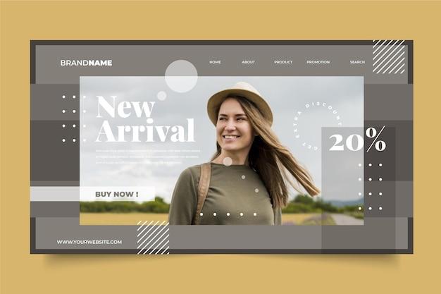 Модная распродажа целевой страницы веб-шаблон