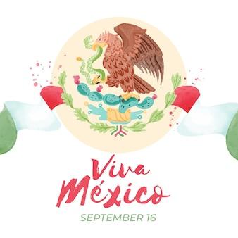 水彩メキシコ独立記念日