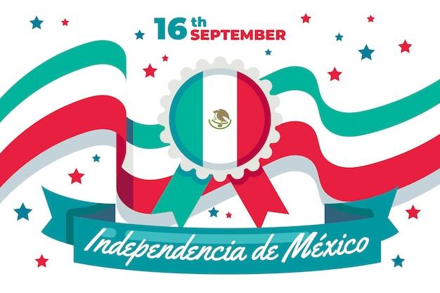 フラットなデザインのメキシコ独立記念日のコンセプト