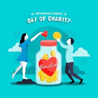 慈善の国際デーのイラスト