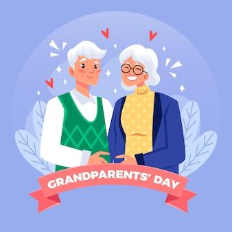 アメリカのフラット祖父母の日イベント