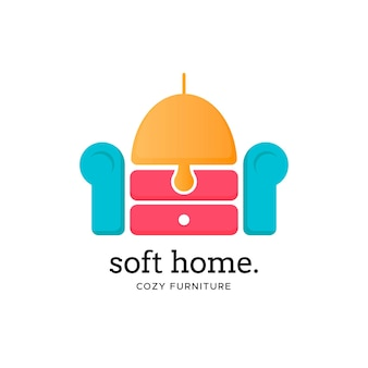 Шаблон логотипа мебели