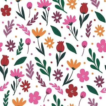 カラフルな花柄