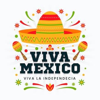 メキシコ独立記念日のデザイン