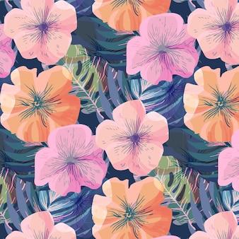 美しい花柄