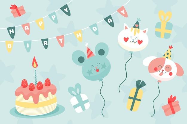 Ручной обращается день рождения фон