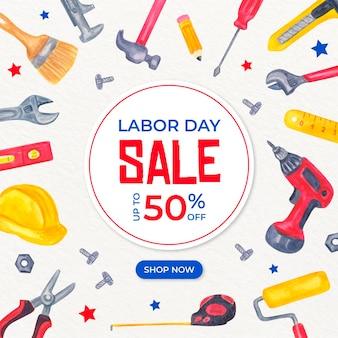 Акварель дизайн трудовой день продажа