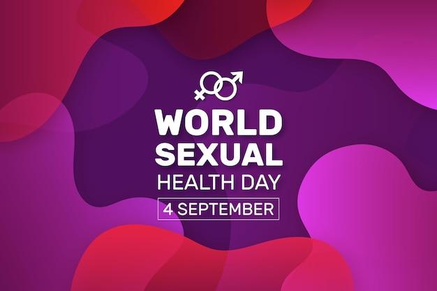 世界の性の健康の日の液体デザイン
