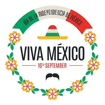 花を持つ独立メキシコ