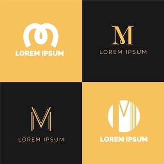 Коллекция логотипов м