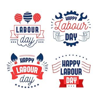 フラットデザインハッピーアメリカ労働者の日