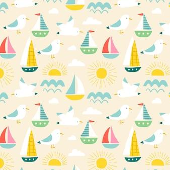 カラフルな夏のパターン