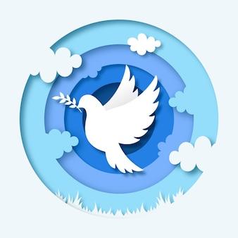 紙のスタイルで国際平和の日