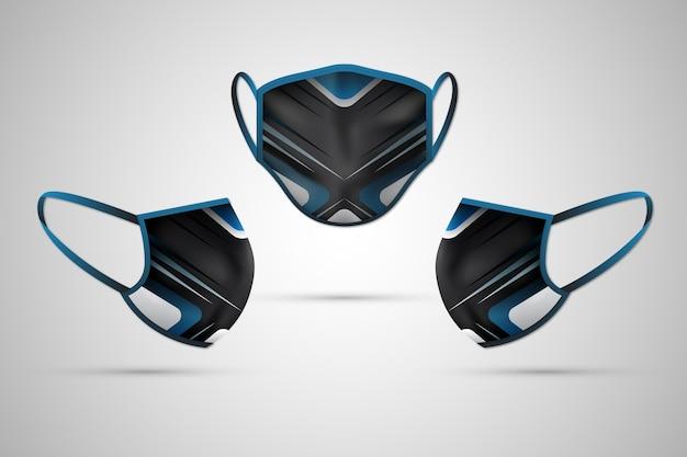 リアルな生地のフェイスマスクのコンセプト