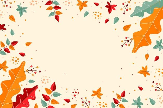 Осенние обои с листвой