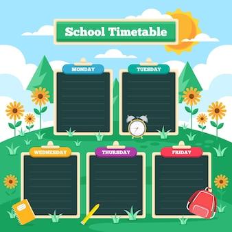 Отрисовано обратно в школьное расписание