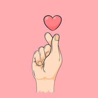手描きの指の心