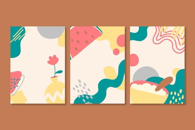 抽象的な手描きの形状カバー