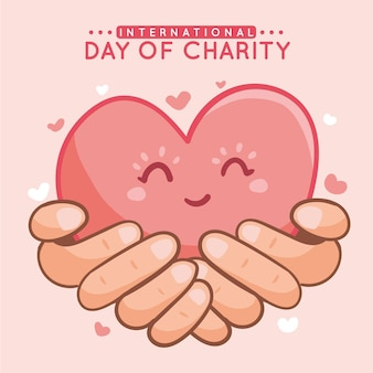 Ручной обращается международный день благотворительности