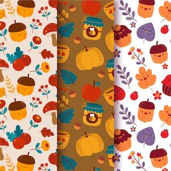 創造的な秋のパターンのコレクション
