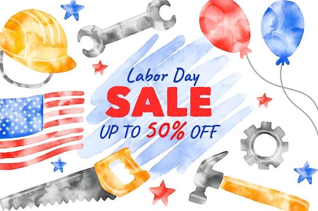 風船と道具米国労働者の日