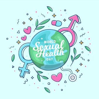 世界の性的な健康の日のコンセプト