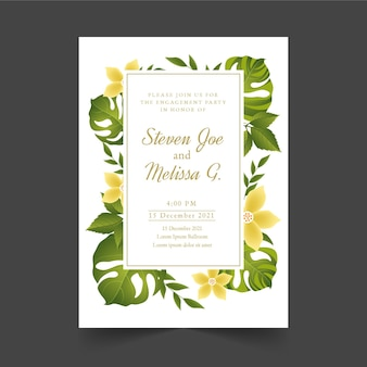 花との婚約招待状