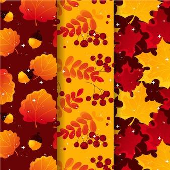 異なる秋パターンのセット