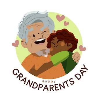 年配のカップルとの祖父母の日