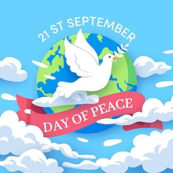 フラットデザインの国際平和デー