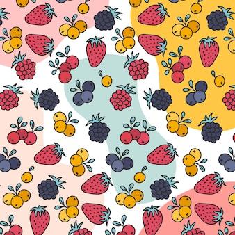 夏のフルーティーなパターンデザイン