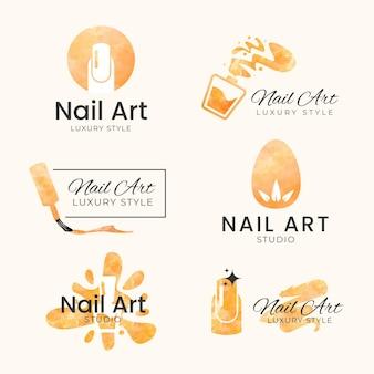 Шаблон логотипов студии искусства ногтя