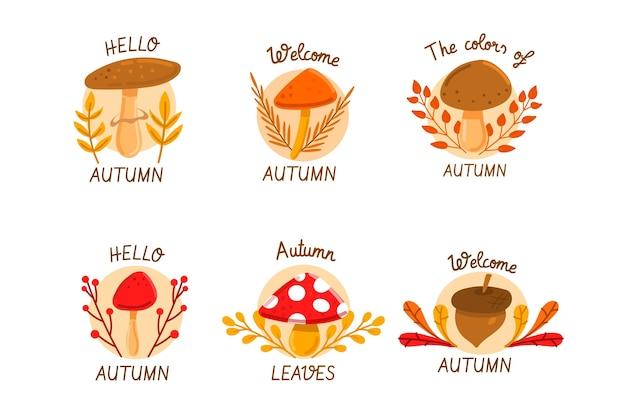 秋のラベルコレクション