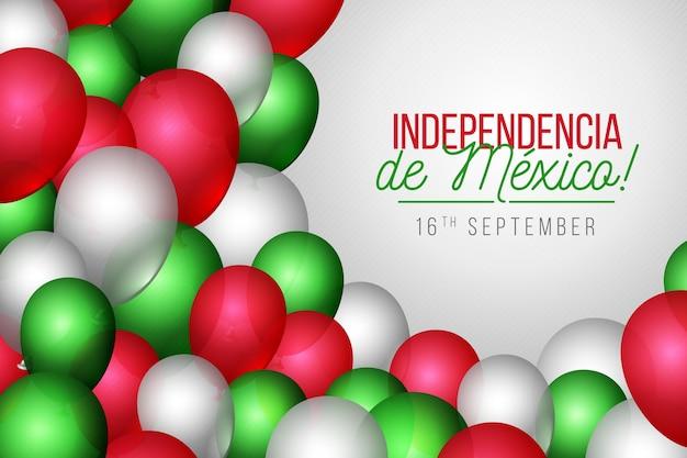 Реалистичная независимость от мексики шар фон