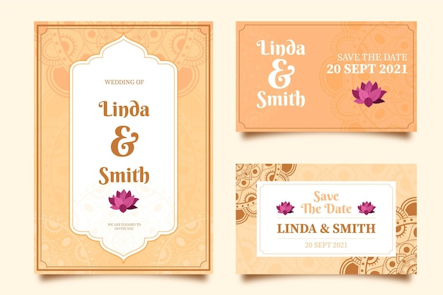 インドの結婚式の文房具コレクション