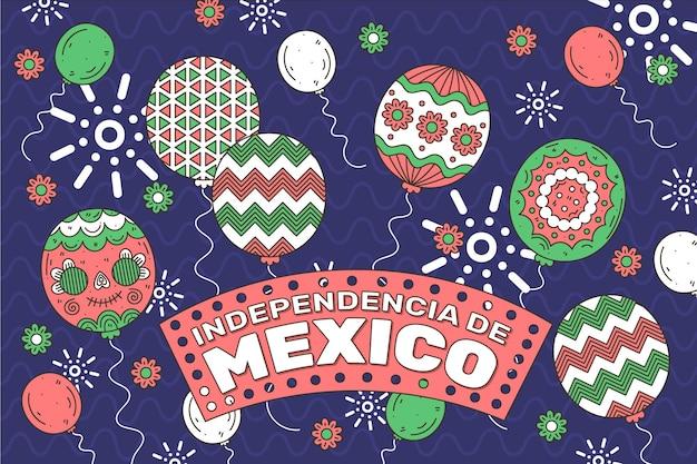 メキシコ独立記念日のバルーンの背景
