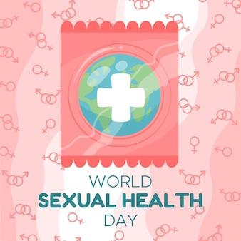 オランダカイウユリの背景を持つ世界の性の健康の日