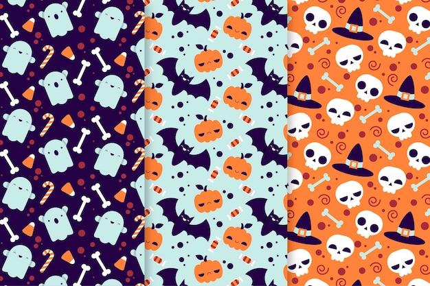 フラットハロウィーンのパターン